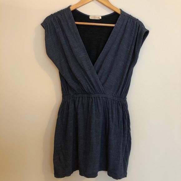 Heather Navy Blue Short Dress